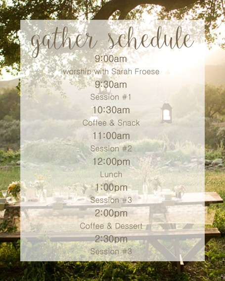 gather schedule